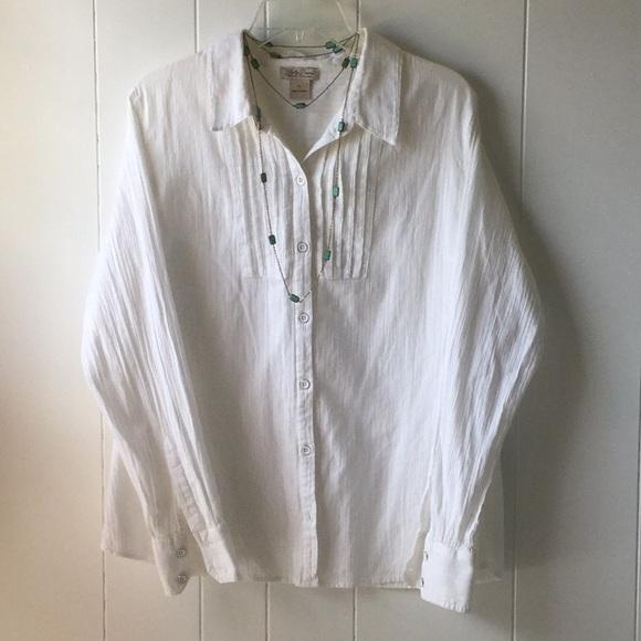 Lucky Brand Tops - LUCKY BRAND WHITE BUTTON DOWN